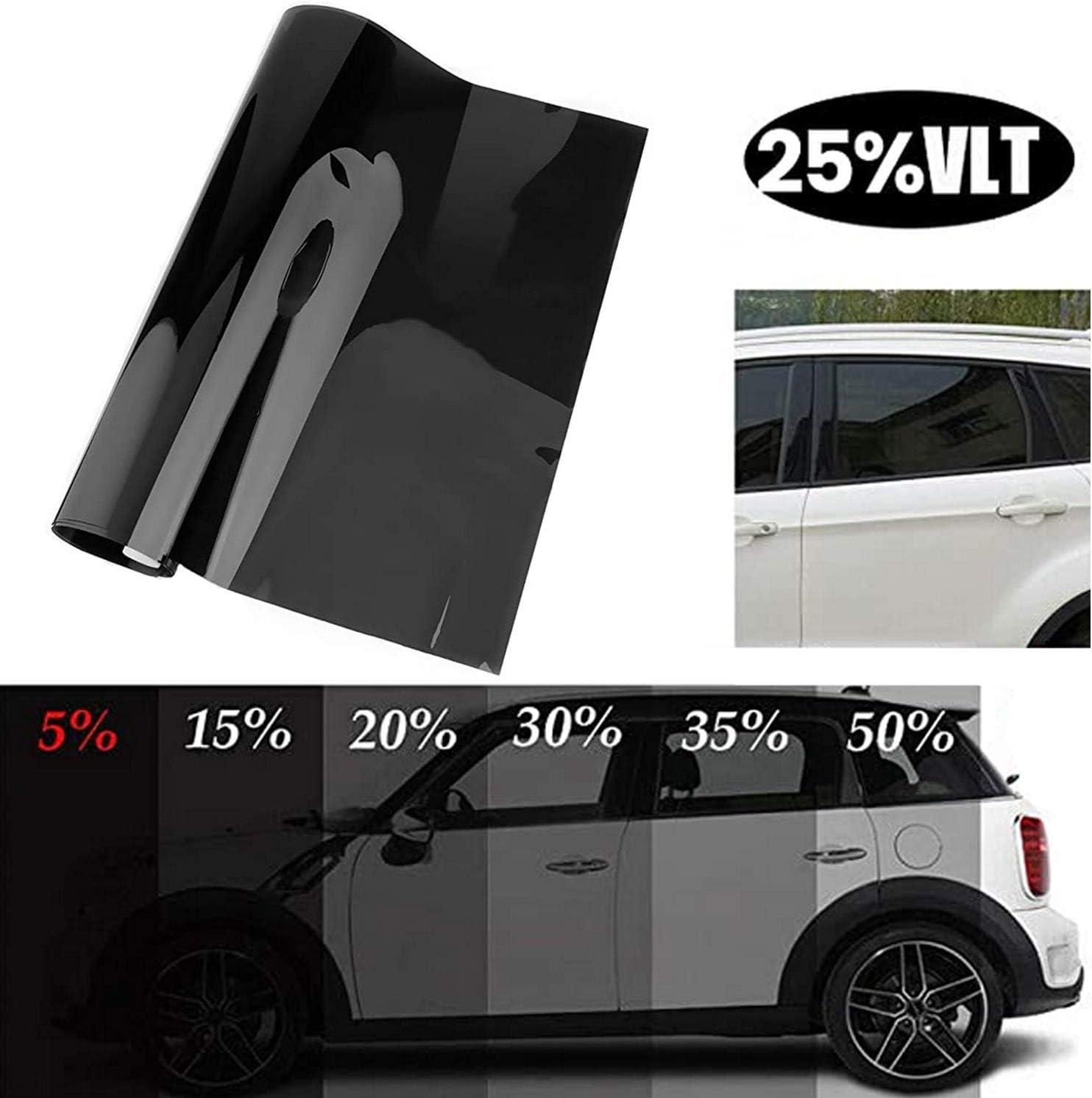 6x0.5m Pellicola Oscurante Vetri Auto Trasmissione 25/% Anti UV Resistente e Graffi Vococal Pellicola per Vetri Auto Pellicola Oscurante Riduce Il Riflesso del Sole
