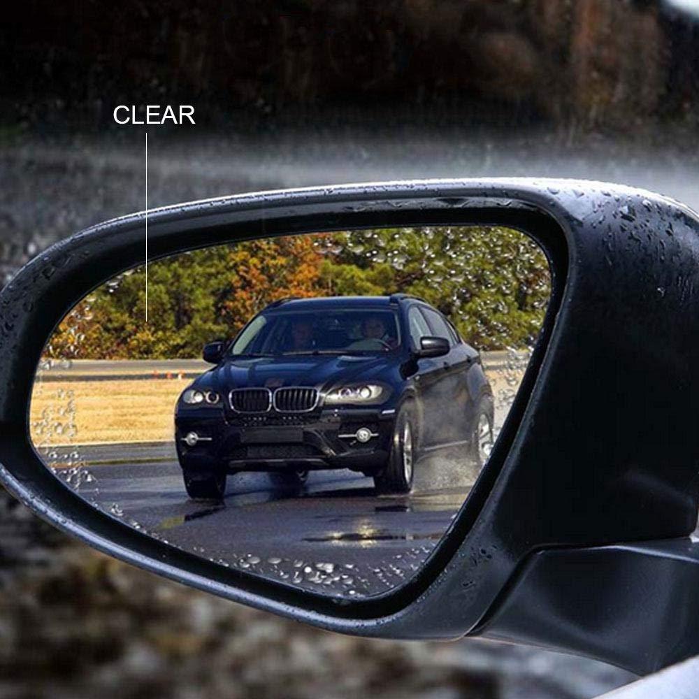 9.5cm Anti-Fog Film Blendfreie Anti Mist Antireflex Regendicht Schutzfolie f/ür Autos//SUV//Motorrad 2 LayOPO Auto Rear View Spiegel Film 9.5