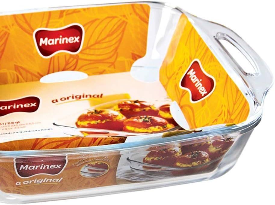 Marinex 2.5lt cuadrado cristal microondas horno para horno fuente ...