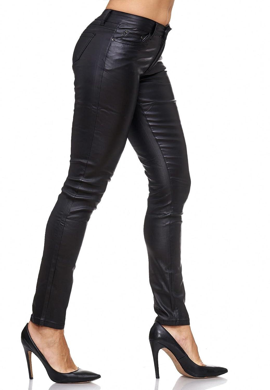 Neu Damen Leder Hose Treggings Slim Biker Stretch Skinny Röhre Faux Lederhose