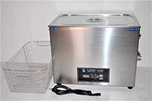 FULL SET: DSA800SE-GL2 30L 8 Gal 1600W 20KHz or 40 KHz HEATED INDUSTRIAL ULTRASONIC PARTS CLEANER WASHER MACHINE WITH INBOARD BASKET, CLEANING RACK AND TOP COVER LID. PROFESSIONAL JEWELRY DENTAL TATTO