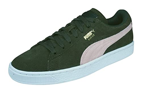 e6d1a44ec30a3 Puma Suede Classic HOL Womens Ladies Trainers Green/White - Green ...