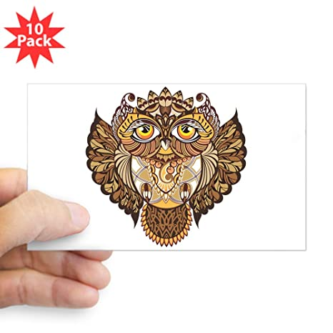 Amazon com: Sticker (Rectangle) (10 Pack) Wise Owl