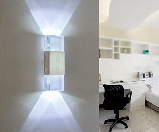 Unimall Applique Murale Led Lampe Murale 6W En Aluminium Lampe