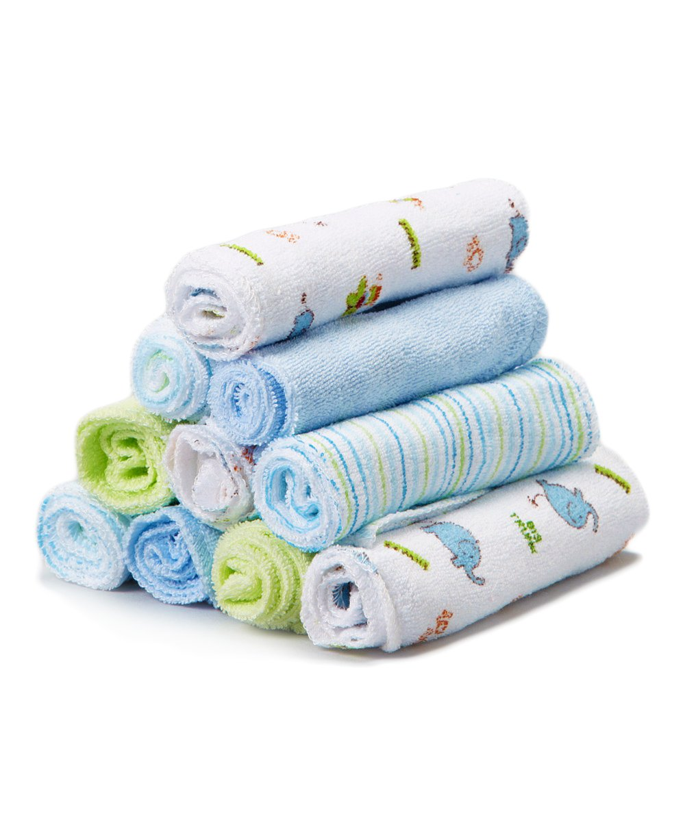 10 Pack Soft Terry Bath Washcloth