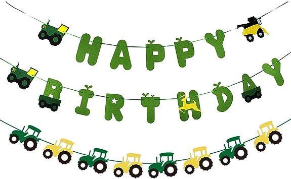 Amazon.com: Juego de pancarta de cumpleaños con guirnalda de ...