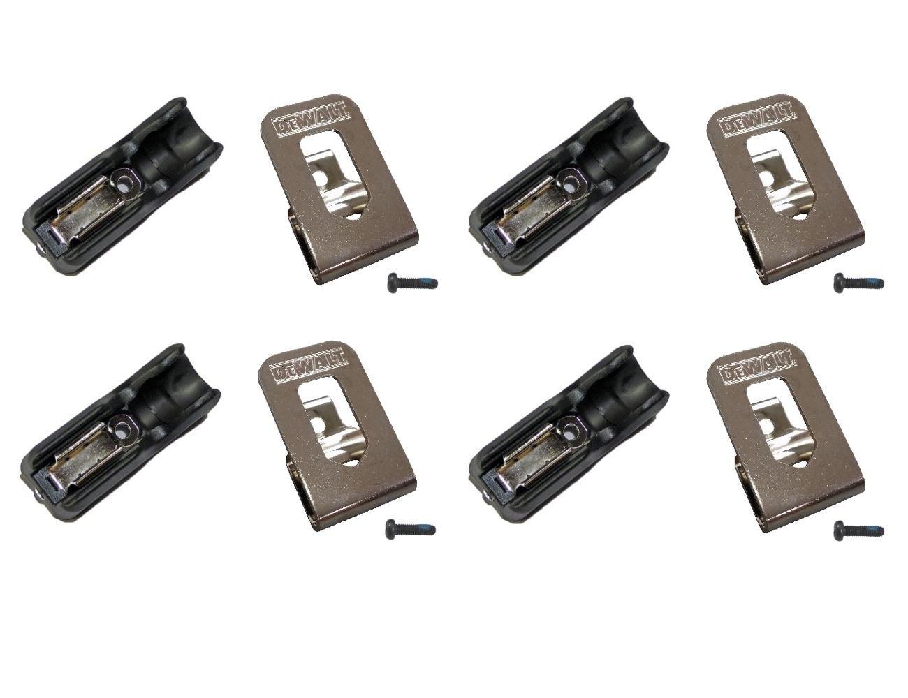 8 Pc. DeWalt Belt Hook & Bit Clip Holder Combo 20v Max DCD771 DCD980 DCD985