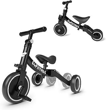 besrey Triciclos para Niños 5 en 1 Triciclos Bebes Triciclos evolutivos Bicicleta Bebe Triciclo Bicicleta para Niño y Niña de 1 a 3 años(Negro): Amazon.es: Juguetes y juegos