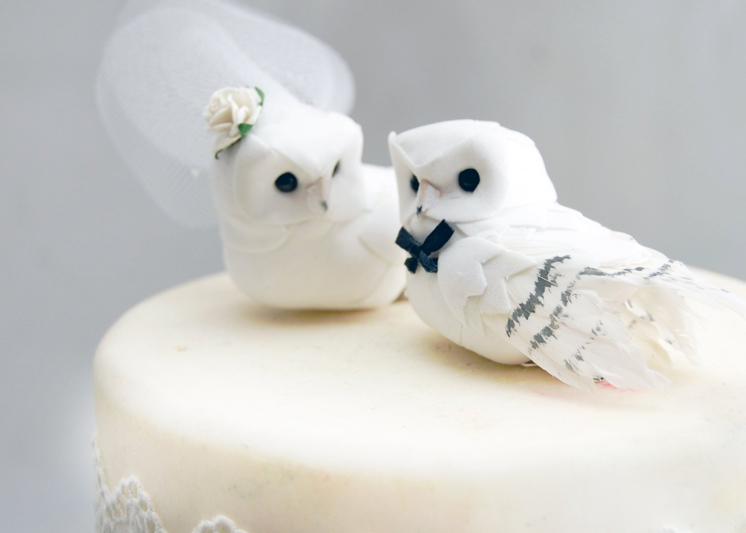 Amazon.com: Snowy Owl Cake Topper in Winter White: Rustic \