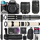 Holiday Saving Bundle for D3300 DSLR Camera + 650-1300mm Telephoto Lens + Tamron 70-300mm Di LD Lens + AF-P 18-55mm + 500mm Telephoto Lens + Battery Grip + 2yr Warranty - International Version
