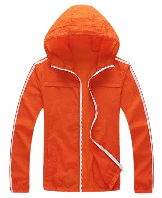 Vska Women Track Sunscreen Breathable Pocket Hooded Coats