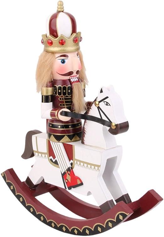 B Blesiya SCHIACCIANOCI di Legno Soldato sul Cavallo A
