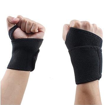 Andux Zone 1 Par Muñequera,Soporte de muñeca para levantamiento de pesas/crossfit / powerlifting/culturismo,Prevenir Lesiones De Elevación YD/HW02: ...