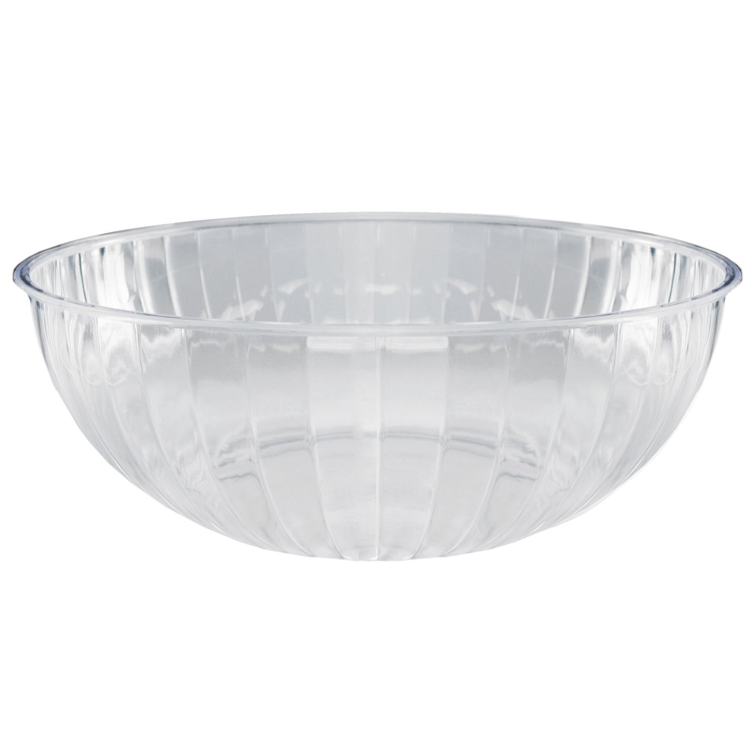 Party Essentials N674563 Hard Plastic 192-Ounce Serving Bowl, Clear