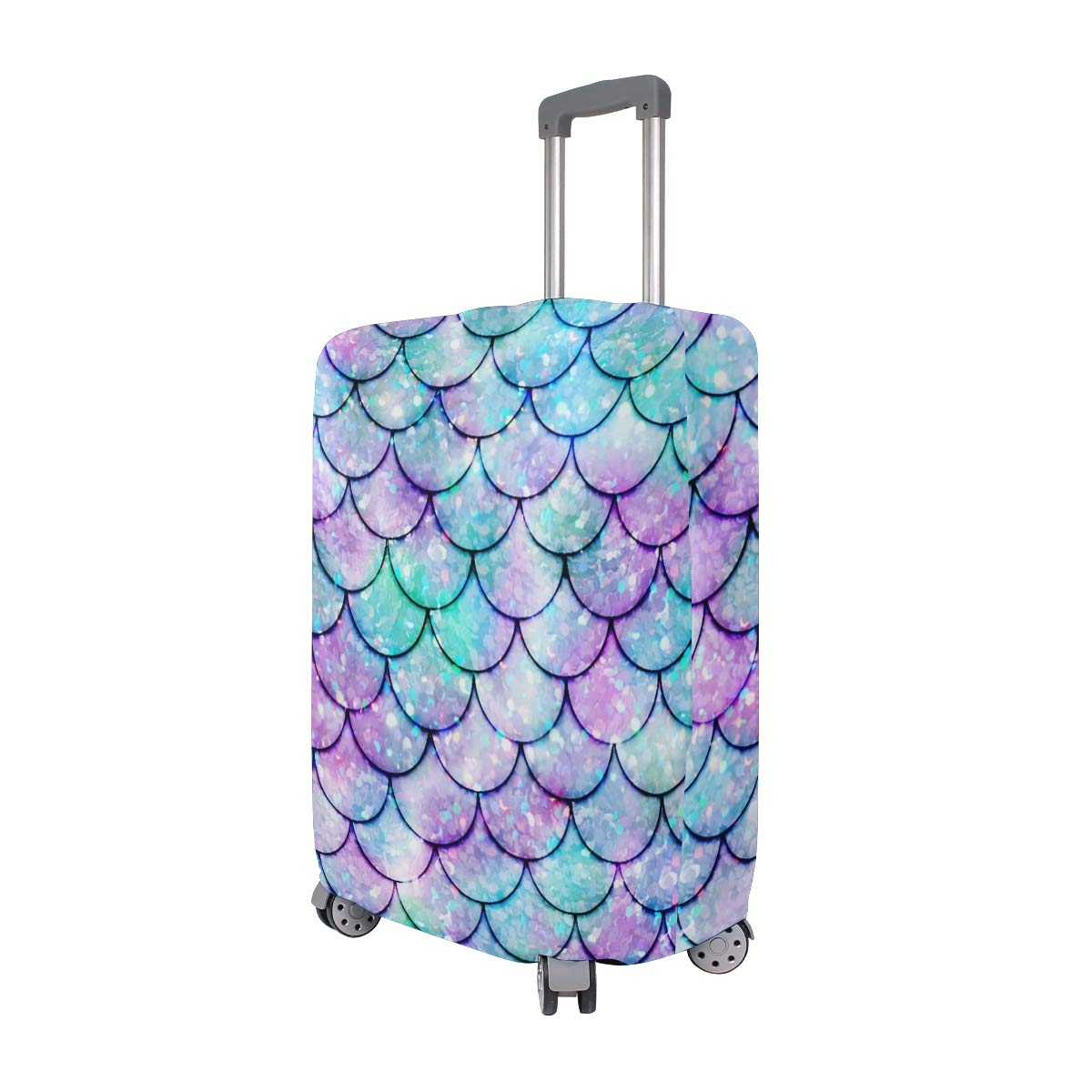 Amazon.com | FOLPPLY Colorful Watercolor Mermaid Scale Luggage Cover Baggage Suitcase Travel Protector Fit for 18-32 Inch | Luggage & Travel Gear