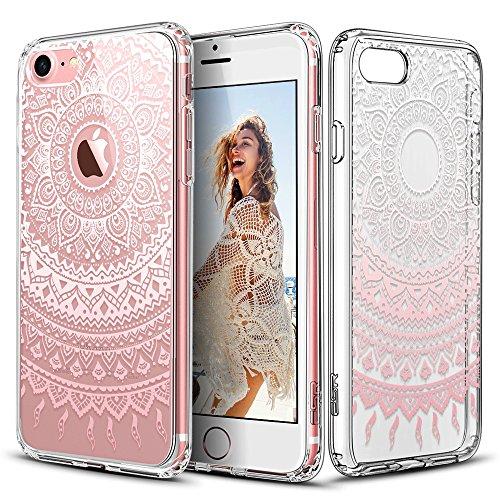 ESR Floral Designer Case with Soft TPU Bumper for iPhone 7 4.7'-Pink...