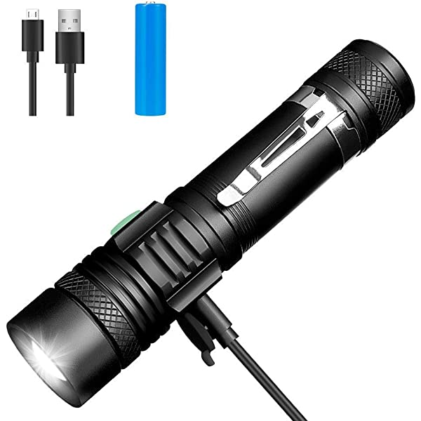 9 x AAA Batteries Included Linkax LED Torch Tactical Flashlight 3 Pack Super Bright Handheld Flashlights 5 Modes Pocket Torch for Camping,Hiking and Outdoor