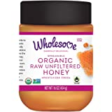 Wholesome Sweeteners Organic Raw Honey, 16 Ounce, 3 Pack