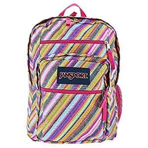 JanSport Big Student Backpack (Multi Texture Stripe)