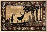 Mayberry Rugs AD8001 Rustic Lodge Deer – 2'3″x3'3″ For Sale