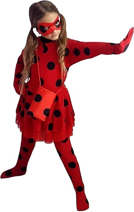 pequeños monelli Disfraz Ladybug niña Vestido Lady Lammy Mariquita ...