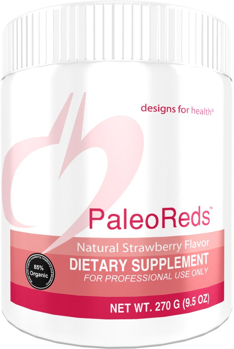 Designs for Health Phytonutrients and Antioxidant Blend Powder - PaleoReds Powder Blend with Organic Whole Fruits + Vegetables (30 Servings, 270 Grams) by designs for health
