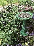 Exaco Trading Co. FM-2470G Exaco Endura Clay Scroll Vine Marbleized Birdbath, Two Shade Green