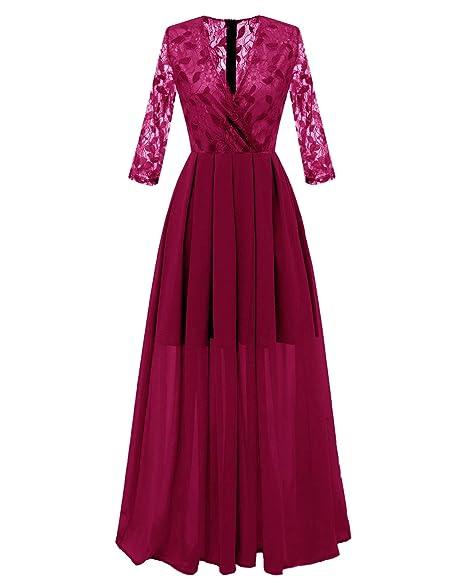 Vestido transparente de fiesta con tela cruzada y ribete de encaje. Opción de colores.