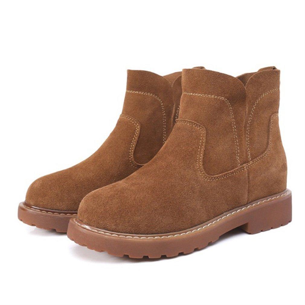 Xianshu Nubuck Flat matin Nubuck Boots confortable B07G5ZYCCD tendon bas matin bottes Marron bb4ad33 - piero.space