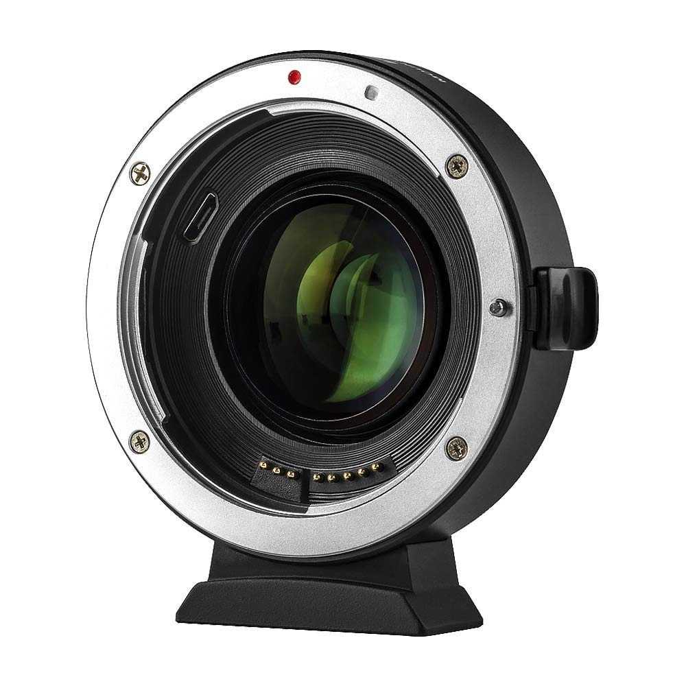 VILTROX EF-EOS M2 Lens Adapter 0.71x Speed Booster for Canon EF Lens to EOS EF-M Mirrorless Camera M M2 M3 M5 M6 M10 M50 M100 AF Auto Focus Reducer - with USB Update Port by VILTROX