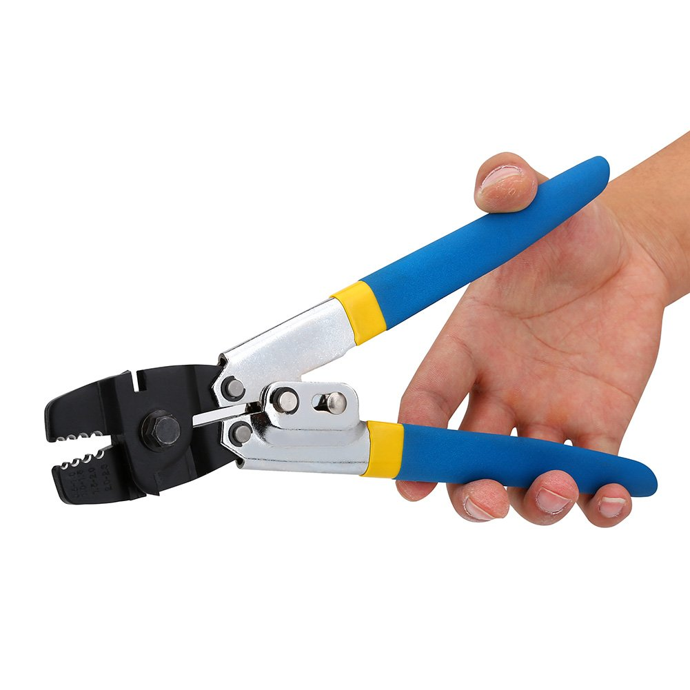 Wire Rope Swager Swaging Tool, High Carbon Steel Fishing Plier Wire Rope Crimpers Crimping Tool Swager for Fishing Line Crimp Sleeves Copper Swivels Snaps