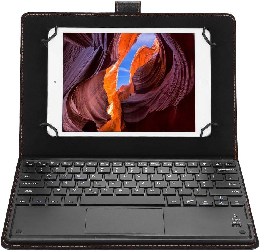 Sutinna Teclado Universal para computadora portátil con Tableta Bluetooth de 9.7-10 Pulgadas, Estuche Protector para Tableta con Soporte + Teclado Bluetooth para Android/iOS/Win