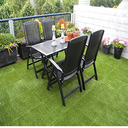 ECO MATRIX Artificial Grass Tiles Interlocking Fake Grass
