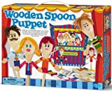 4M Wooden Spoon Puppet Theatre Kit, Model: 3556, Toys & Play