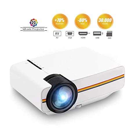 Portátil Mini Multimedia Home LED Proyector Soporte 1080P para ...