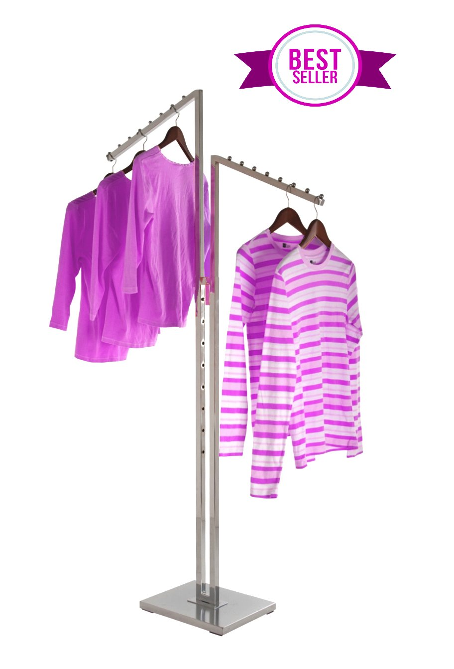 Amazon.com: Perchero de ropa de 2 vías con brazos de cascada ...