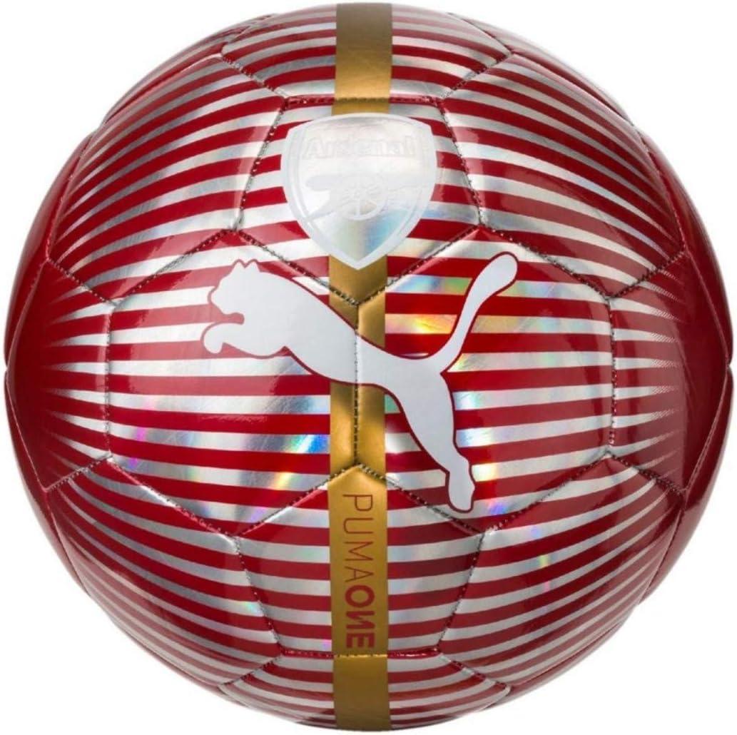 PUMA Arsenal One Balón de fútbol, Chili Pepper, 5