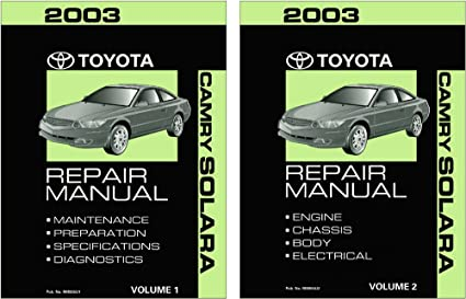 image unavailable  image not available for  color: bishko automotive  literature 2003 toyota camry solara shop service repair manual