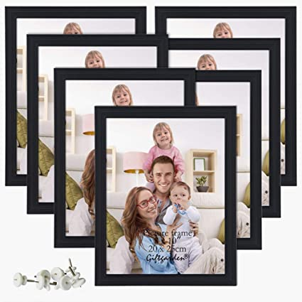 Picture Frames 8x10 Photo Frame Set For Wall Or Tabletop Black