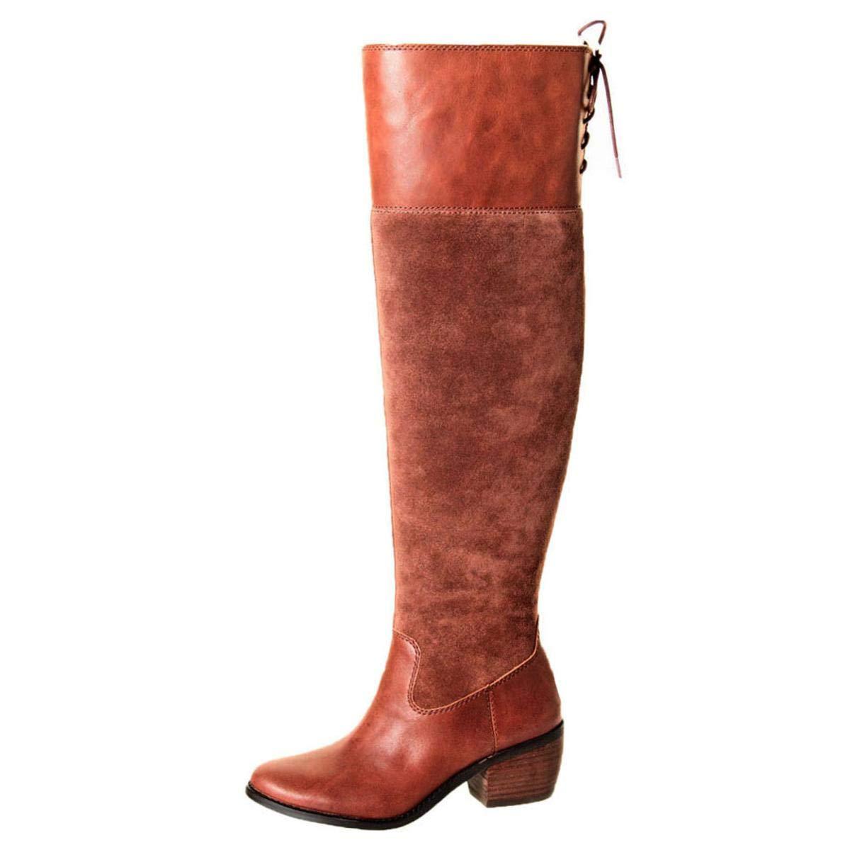 Lucky Brand Women's Komah Fashion Boot, Tobacco, 8 Medium US