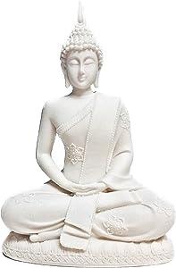Bellaa 23729 Buddha Statue Dhyana Mudra Meditating Sitting 8 Inches
