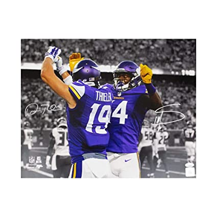 be2195d78 Image Unavailable. Image not available for. Color  Adam Thielen Stefon  Diggs Autographed Minnesota Vikings 16x20 Photo - JSA COA
