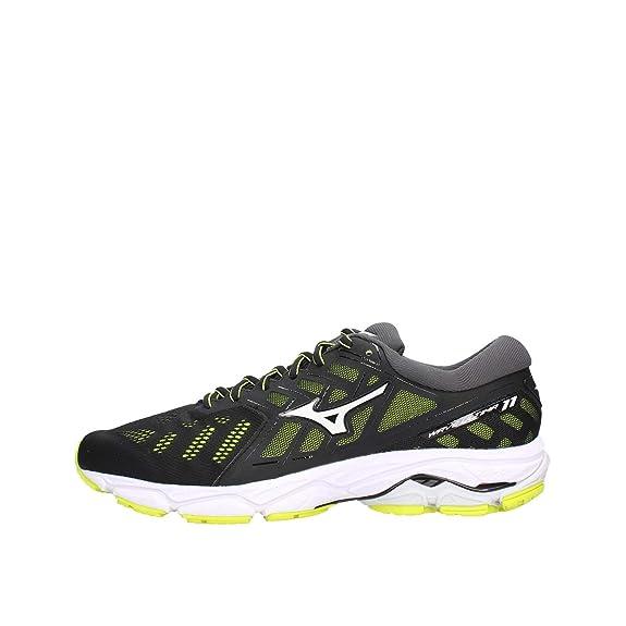 Mizuno Wave Ultima 11 Negro Amarillo J1GC1909 01: Amazon.es: Zapatos y complementos