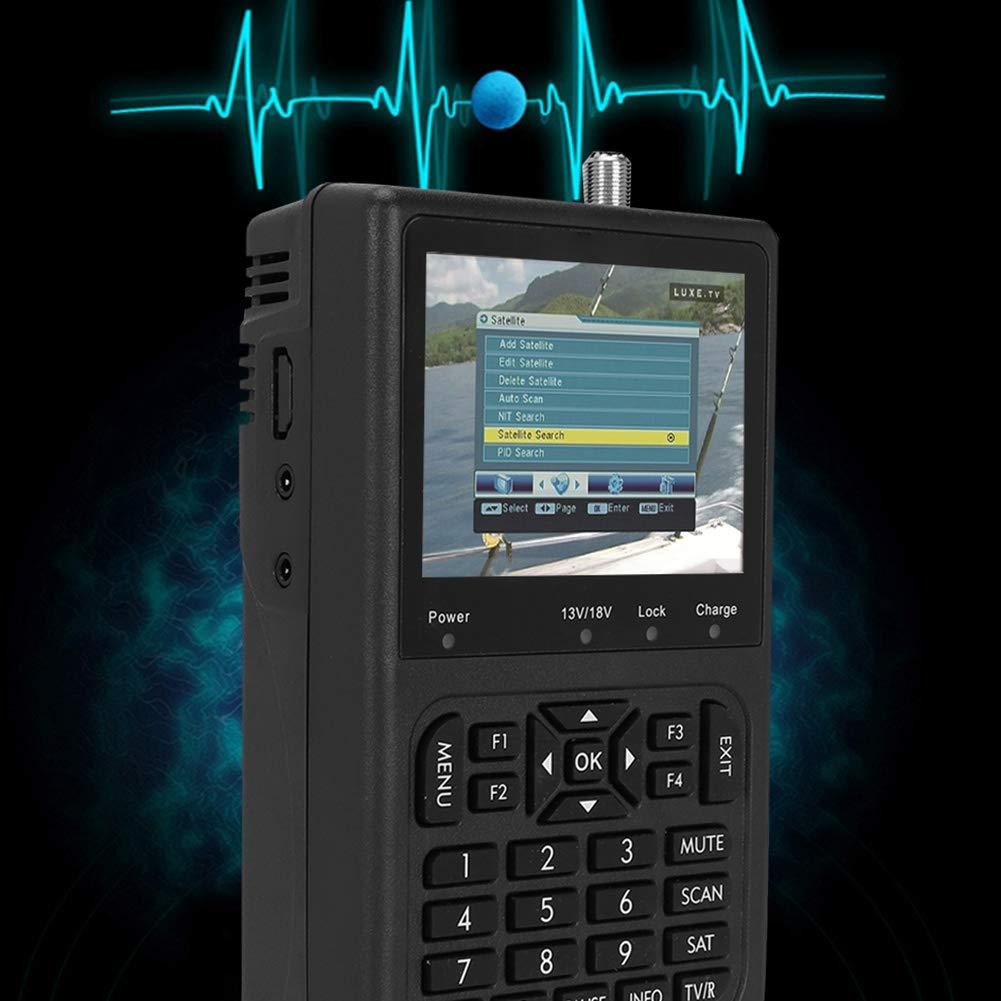 Misuratore di ricerca del segnale satellitare digitale con ricerca automatica dei canali Altoparlante integrato e display a colori da 3,5 pollici