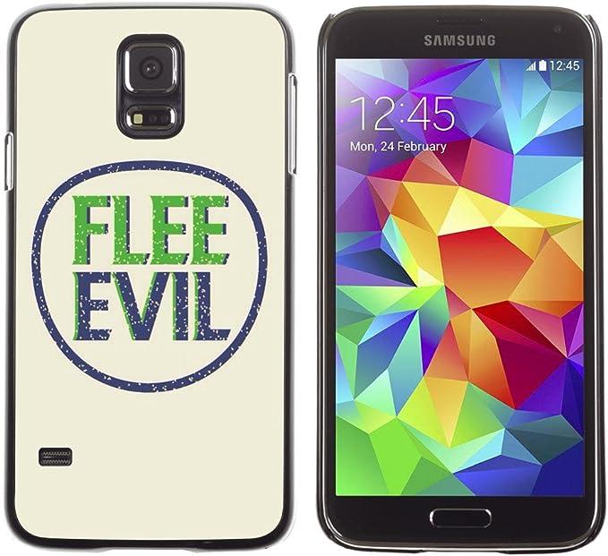 iKiki-Tech Estuche rígido para Samsung Galaxy S5 – FLEE EVIL: Amazon.es: Electrónica