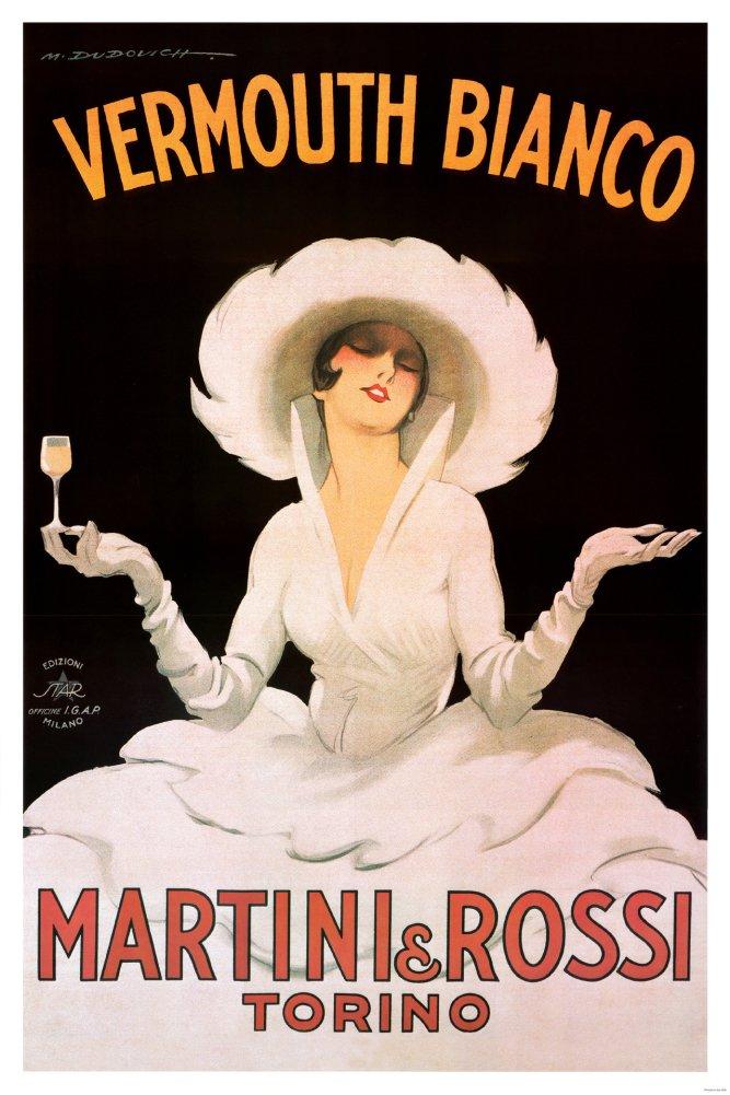 Marcello Dudovich Vermouth Bianco Martini and Rossi Art Print Poster