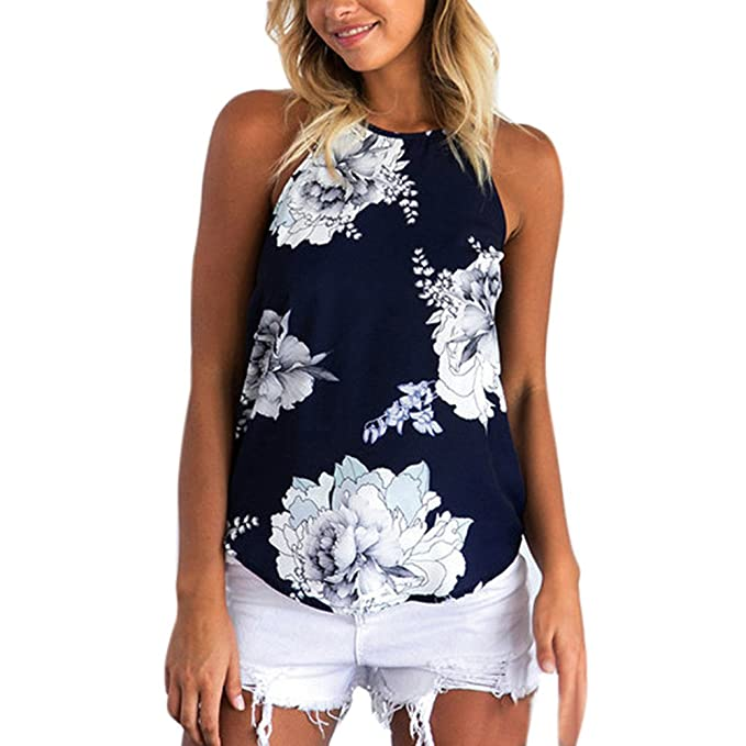 Ropa Camiseta sin Mangas Tank tops para Mujeres, Verano Sexy deporte Casual Lace Chaleco Blusa