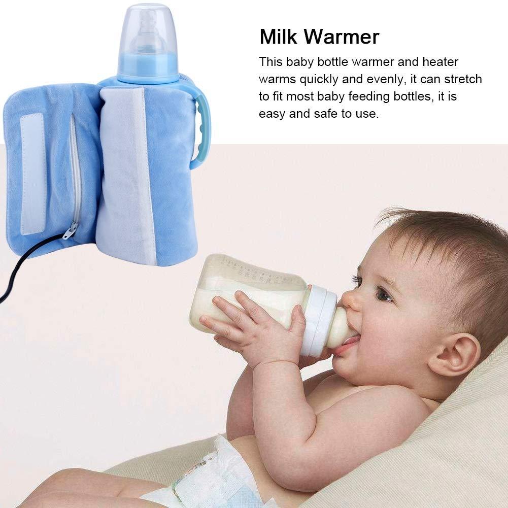Edition : Beige Milk Bottle Warmer,Infant Feeding Bottle USB Thermal Bag for Travel,Blue Pink Beige Options