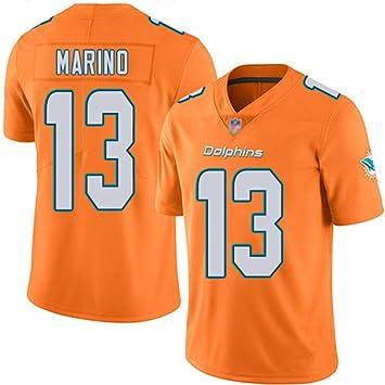 JUNBABY Camiseta De Rugby, Miami Dolphins 13# Dan Marino, Camiseta De FúTbol para Hombres: Amazon.es: Deportes y aire libre