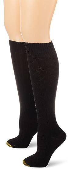 a65e92d4955 Gold Toe Women s Argyle Wool Texture Knee High 2 Pair Dress Socks ...
